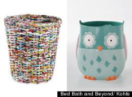 Contenedores de basura originales para tu baño.
