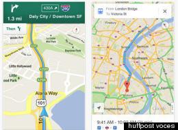 En dos días Google Maps superó los 10 millones de descargas en iPhone.