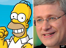 Stephen Harper tweeted a Simpsons video with the message