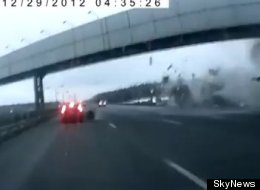 Russian plane crash: Dashboard camera footage captured the moment of impact when a passenger plane crashed into a highway near Moscow's Vnukovo Airport Saturday.