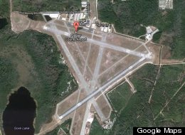 An aerial image of Flagler County Airport, where the plane was headed