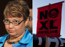 The head of the U.S. Environmental Protection Agency, Lisa Jackson, resigned abruptly last week, reportedly to protest the Obama administration's apparent plans to approve TransCanada's Keystone XL pipeline in the coming months. (AP)