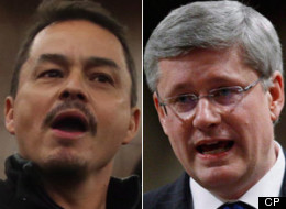 Shawn Atleo's leadership as national chief of the Assembly of First Nations is on the line today amid demands from First Nations chiefs that he boycott talks with Prime Minister Stephen Harper. (CP)