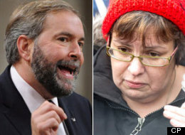 NDP Leader Tom Mulcair is calling on Attawapiskat Chief Theresa Spence to end her liquid-only diet. (CP)