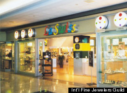 Two men robbed the La Swiss Watch City in Vancouver's Pacific Centre at gunpoint on Sunday. (Int'l Fine Jewelers Guild)