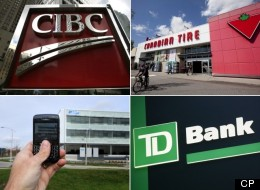 Canadian banks continue to come out on top as the country's most valuable brands while energy and resource companies saw a notable decline in the last year, according to Brand Finance Canada. (Composite image: Canadian Press photos)