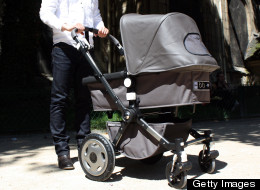 A shoplifter brought his toddler son along and hid stolen goods in the child's stroller, said police. (ANA AREVALO/AFP/GettyImages)