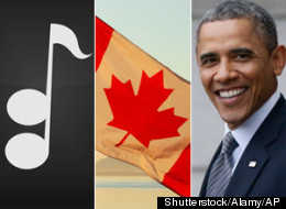 A longtime Calgary blues guitarist and a pair of Canadian songwriters have created a tune, 'Because of You', dedicated to U.S. President Barack Obama that is said to have made its way through diplomatic channels all the way to the White House. (Shutterstock/Alamy/AP)