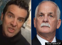 On the Rick Mercer Report Tuesday night, Canada's favourite comedian eviscerated Public Safety Minister Vic Toews for cancelling prison pizza parties. (YouTube/CP)