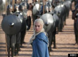 Emilia Clarke as Daenerys Targaryen in 'Game of Thrones' Season 3.