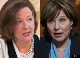Alberta Premier Alison Redford and B.C. Premier Christy Clark waged a war of words over the Northern Gateway pipeline last year and new poll suggests why. (CP)