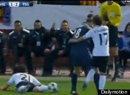 Ibrahimovic dio tremendo patadón a Guardado