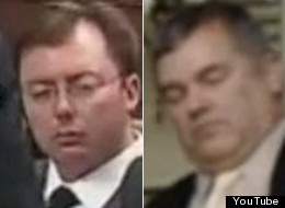 Video of Quebec MNA Daniel Breton (right) sleeping in question period is reminiscent of video taken of Tory MP Rob Anders napping in the House of Commons. (YouTube)