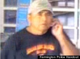 Surveilance photo of a man in Farmington, N.M. who police allege he threw semen on two women inside a local Walmart.