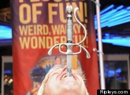 Nearly 200 sword swallowers all over the world will be participating in World Sword Swallowers Day on Feb. 23, an annual event that honors this ancient sideshow art.