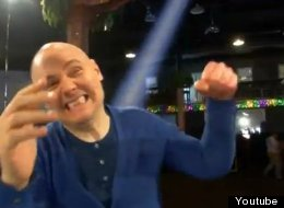 Smashing Pumpkins star — and wrestling promotions business owner — Billy Corgan hits the ring in new furniture commercial. (Youtube)